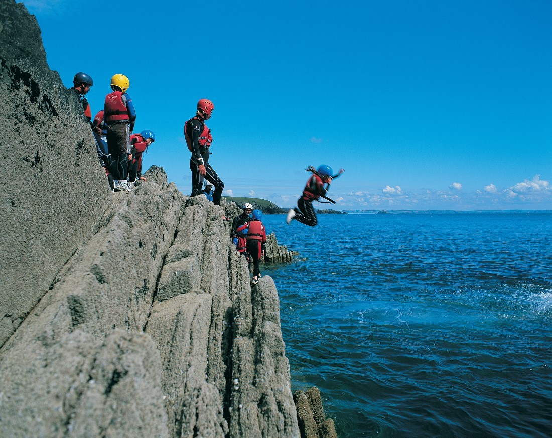 Coasteering was born when surfers explored the coastline in search of the ideal place to surf.