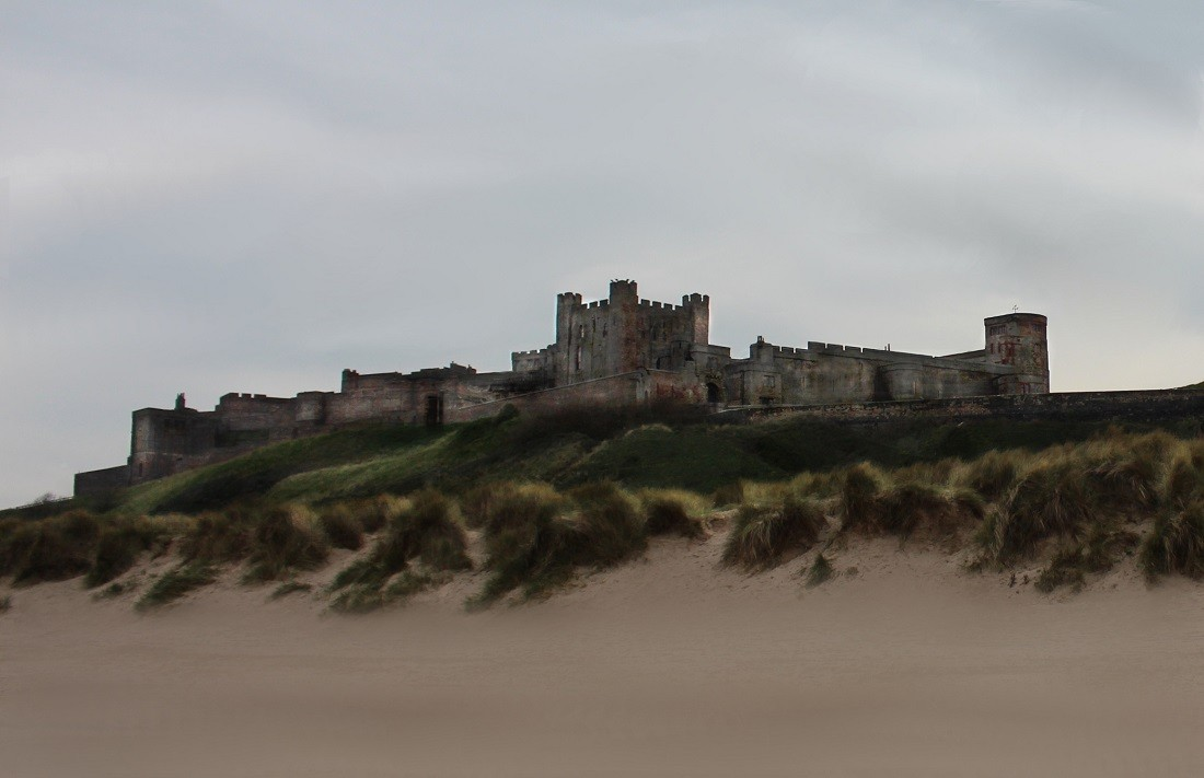 Bamburgh Castle in Northumberland. Image taken by Haley Redshaw, Flickr.