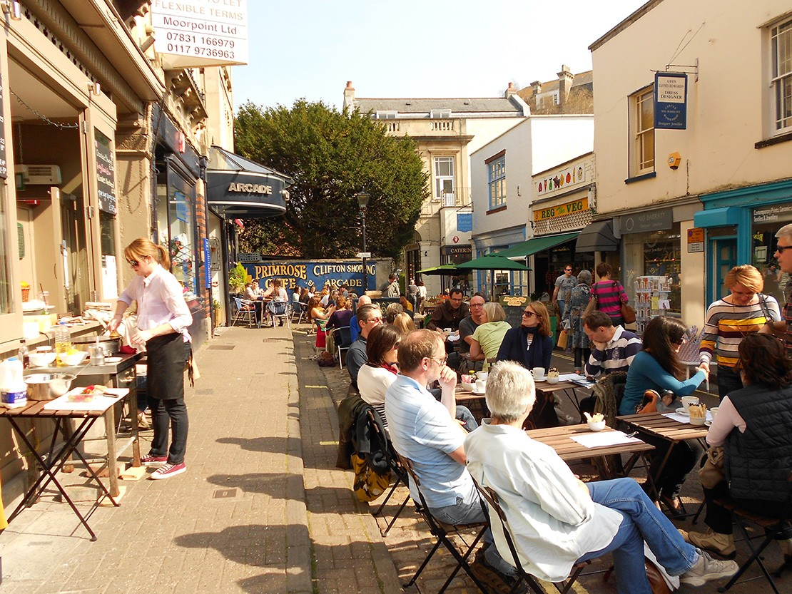 Outdoor cafes in Clifton, Bristol