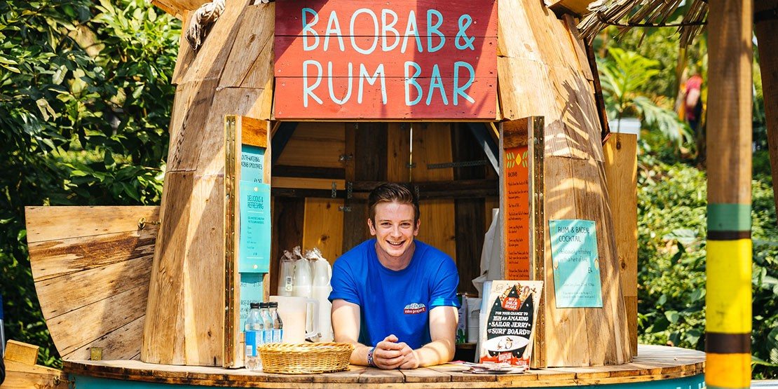 Rum Bar at Eden Project, Cornwall