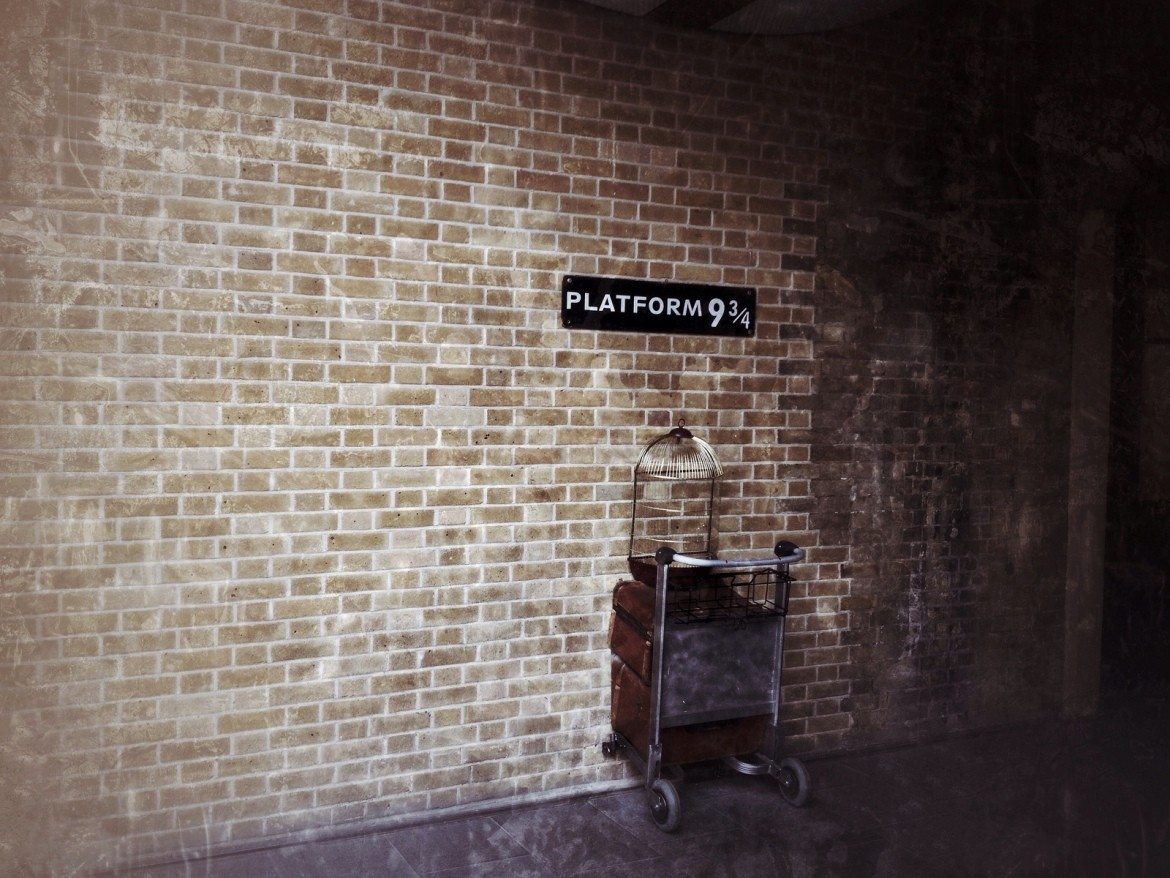 Harry Potter's Platform 9 and 3/4, part of Kings Cross Station