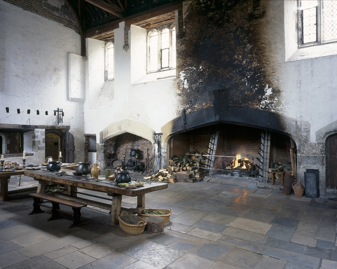 The kitchens at Hampton Court Palace