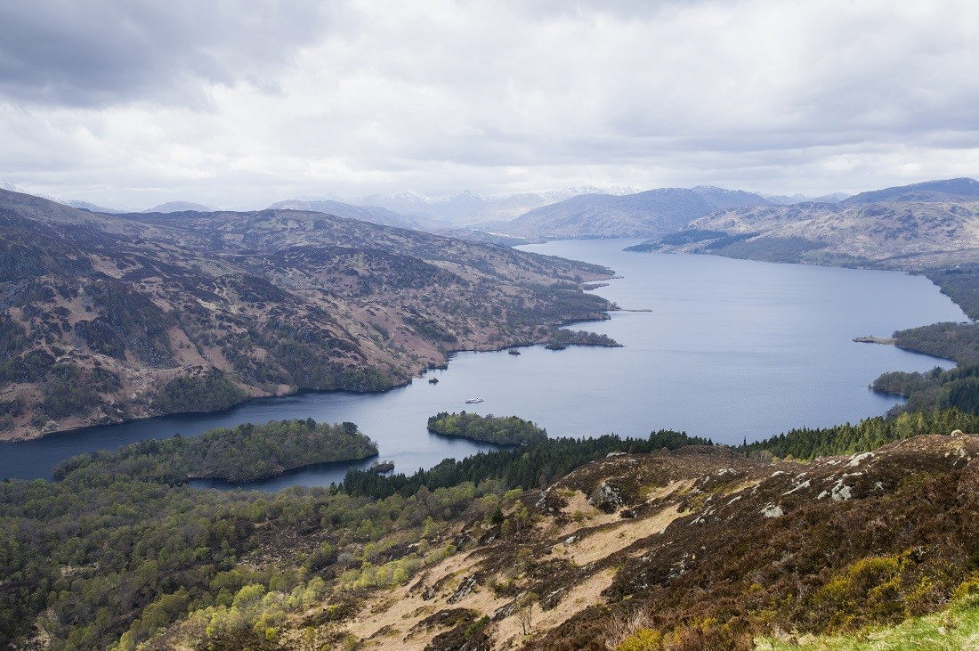 Loch Katrine seen from the summit of Ben A'an in The Trossachs - ©VisitBritain, VisitScotland