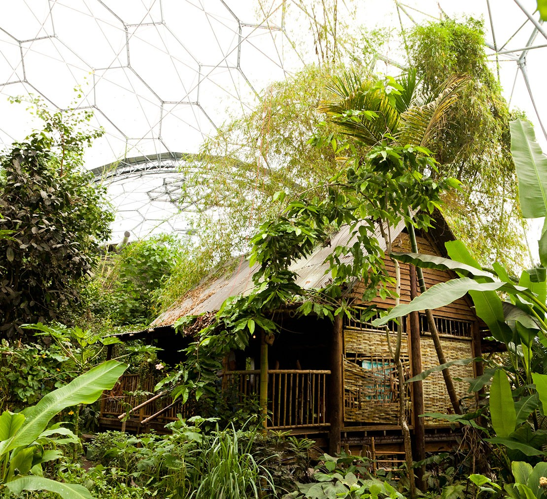Malaysian house, Eden Project, Cornwall