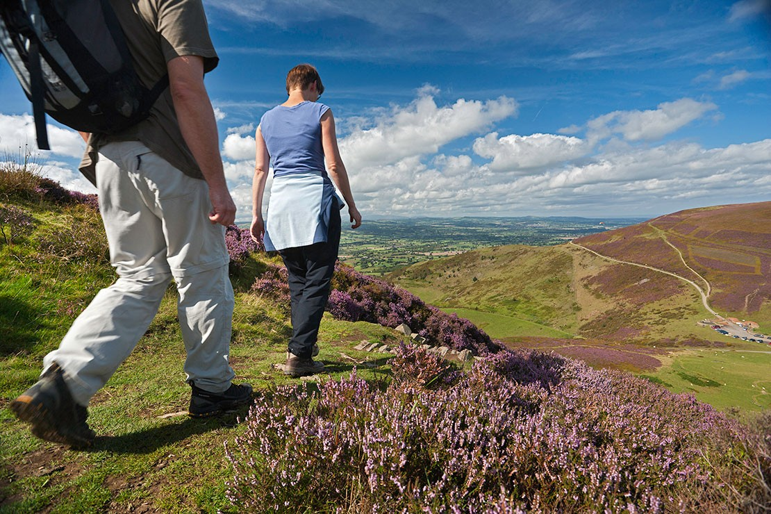 Hikers in the Clwydian Range, Wales
