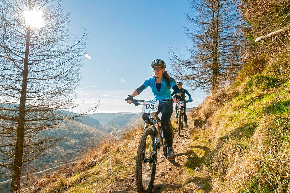 Mountain biking in Afan Forest Park, Wales