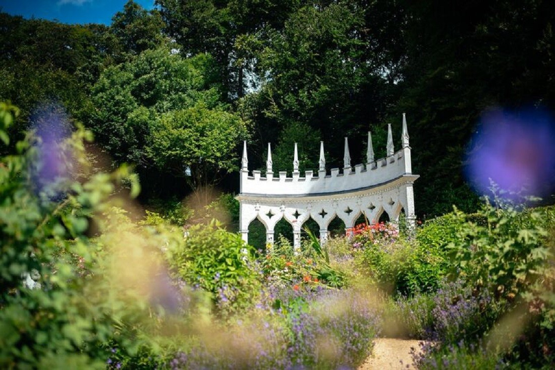 The Exeda Garden of the Rococo Gardens in Gloucestershire, south-west England. Image credited to Joab Woodger-smith