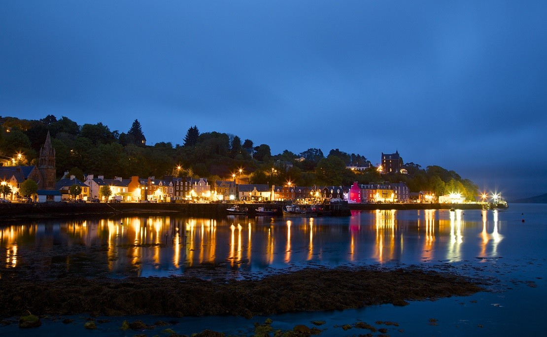 Tobermory on the Isle of Mull in Scotland, image credited to Ken Willetts from Flickr