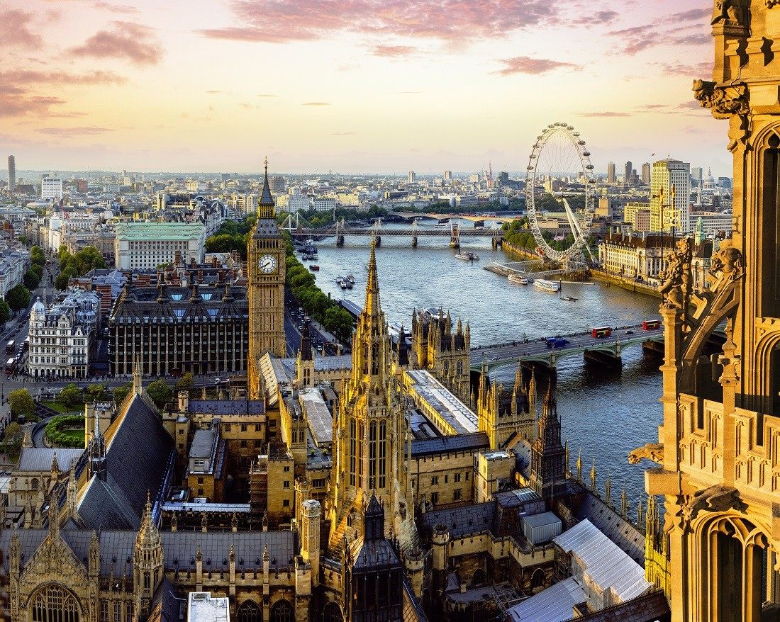 The view of the Houses of Parliament from Victoria Tower. Big Ben, The Elizabeth Tower can be seen. London c. VisitBritain, Andrew Pickett
