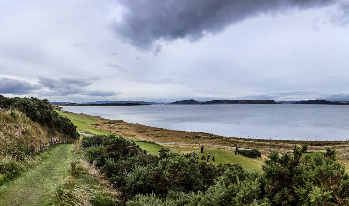 View from Castle Stuart Golf Club onto the Moray Firth