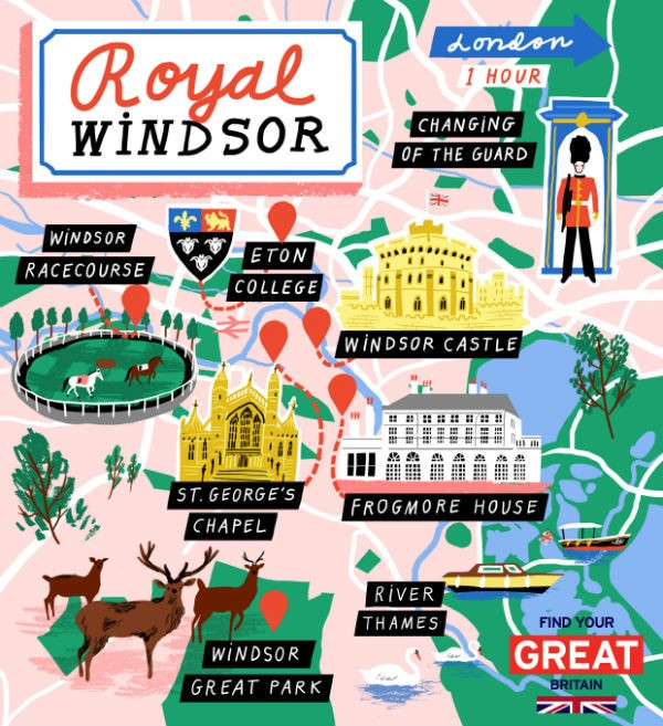 Royal Windsor itinerary and map   VisitBritain