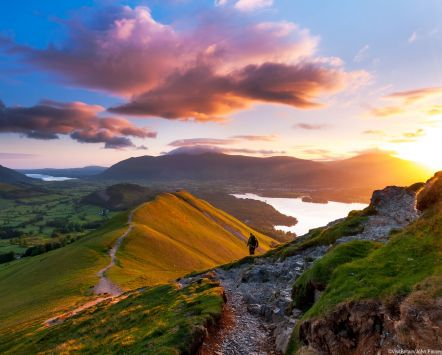 Sunrise on Catbells Mountain, The Lake District