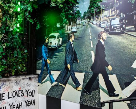 Abbey Road display at the Beatles Story, Liverpool