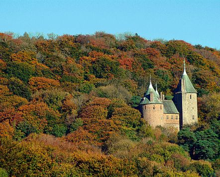 Castell Coch amonst Autumn colours, Cardiff , Wales