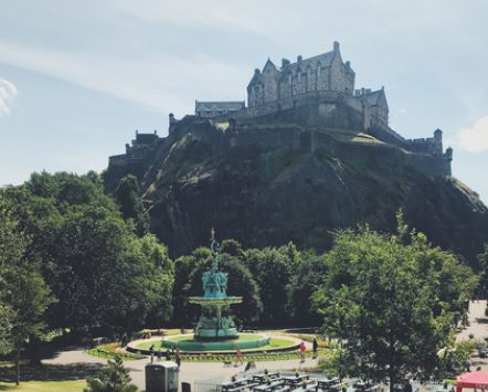 Summer in Princes Street Gardens, Edinburgh, Scotland