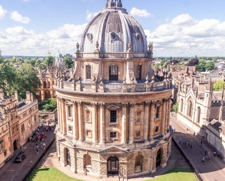 Birds eye view of Radcliffe Camera, Oxford, England