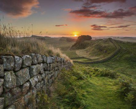Der Hadrianswall in Northumberland, Nordengland