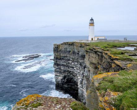 Lighthouse on Orkney, Scotland