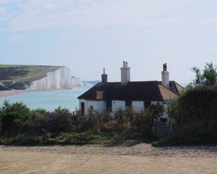 Seven Sisters, coast guard cottages, South East England