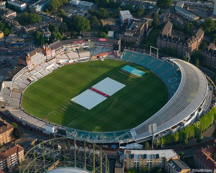 The Oval Cricket Ground in South London. An international cricket ground.