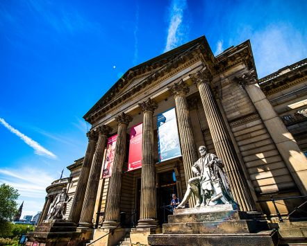 Exterior shot of the Walker Art Gallery in Liverpool.