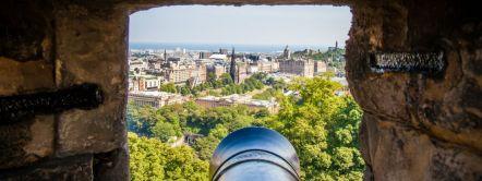 Cannon barrel, Edinburgh Castle