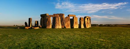 Stonehenge at sunrise. A Neolithic monument in Wiltshire.