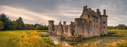 Caerlaverock Castle in der Nähe von Dumfries in Schottland
