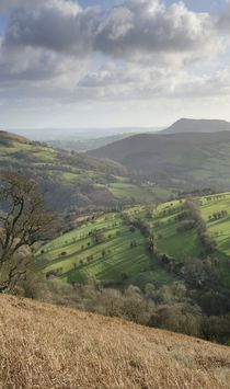 View over the Black Mountains, Brecon Beacons National Park