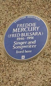 Freddie Mercury Blue Plaque