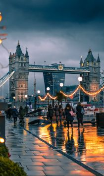 Tower Bridge en hiver