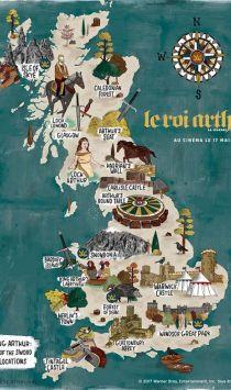 La Grande-Bretagne du Roi Arthur en une carte interactive
