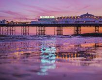 Coucher de soleil sur le Brighton Pier
