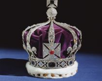 The Crown Jewels at the Tower of London, London, England.