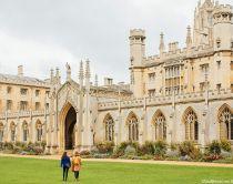 Two women walking through St. John's College, Cambridge, Cambridgeshire, England. Credit to VisitBritain/Jon Attenborough