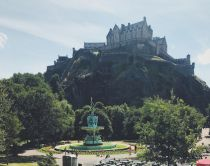Summer in Princes Street Gardens, Edinburgh, Scotland