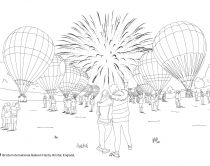Colouring In Image - Bristol Balloon Fiesta