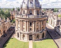Birds eye view of Radcliffe Camera, Oxford, England © VisitBritain/Sophie Nadeau