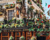 Churchill Arms pub, London