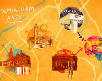 Map of Birmingham Art Locations