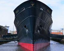 Hotel-båden Fingal set ude fra