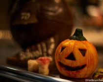tipica zucca di halloween di cioccolato
