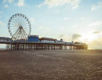 Blackpool pier, built in the 19th century, packed with fairground rides and arcades.
