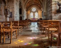 Church in the castle on St Michael's Mount, Cornwall, England. Credit to Mike Newman Photography