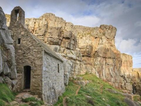 St Govan chapel, Pembrokeshire, Wales