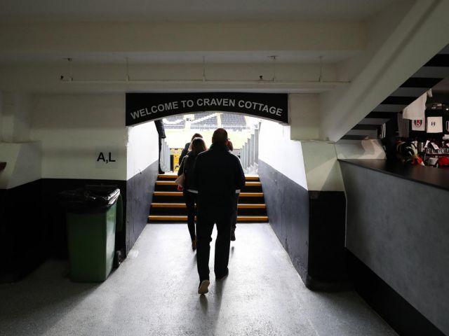 Tunnel at Craven Cottage stadium