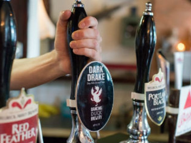 craft beer in a pub in England