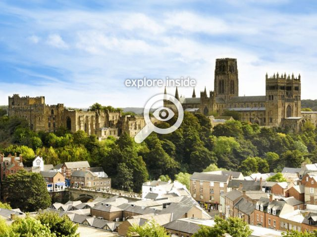 Durham city skyline with cathedral