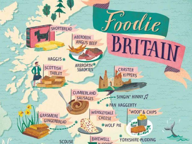 Foodie Map of Britain