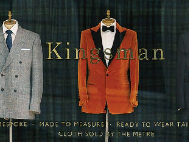 The Kingsman tailors shop on Savile Row, London